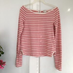 Anthropologie 9-H15 STCL Pale Red and White Top